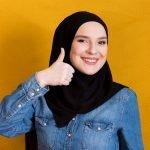 Black Cotton Hijab