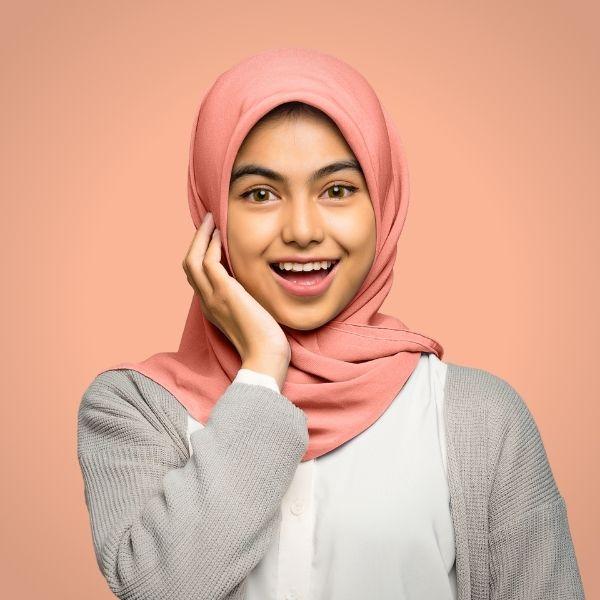 Georgette Pink Hijab