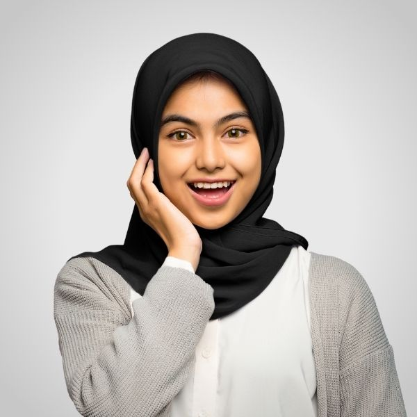 Black Premium Georgette Hijab