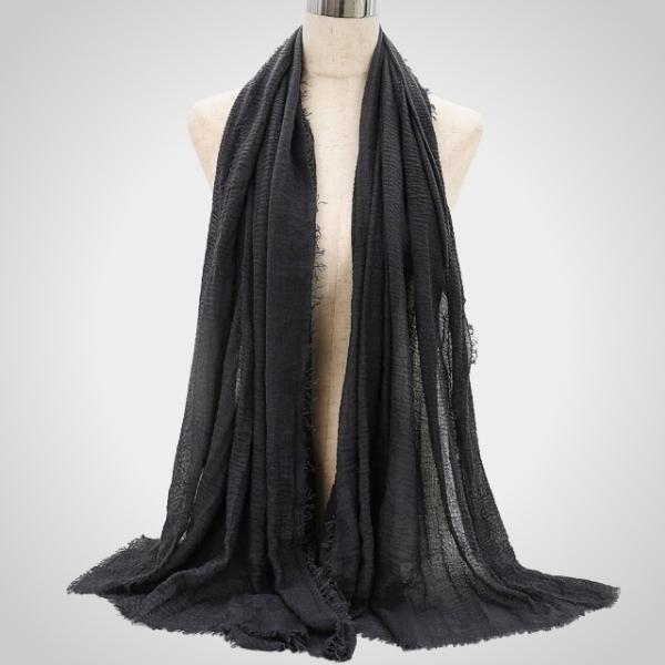 Black Premium Cotton Hijab