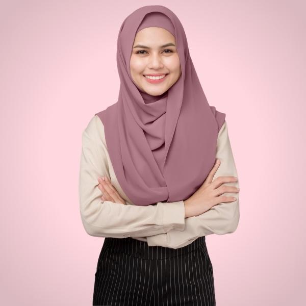 Bubblegum Chiffon Hijab