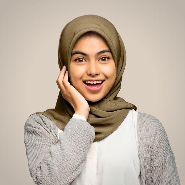Coffee Premium Georgette Hijab