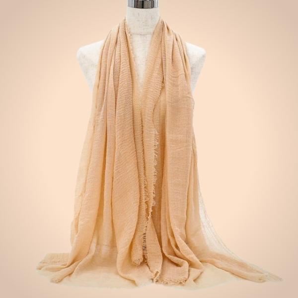 Cream Premium Cotton Hijab