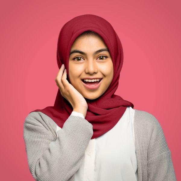 Crimson Red Premium Georgette Hijab