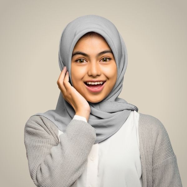 Grey Premium Georgette Hijab