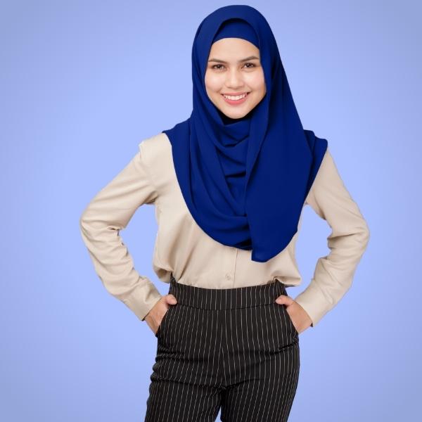 Indigo Chiffon Hijab