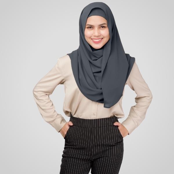 Smoke Chiffon Hijab